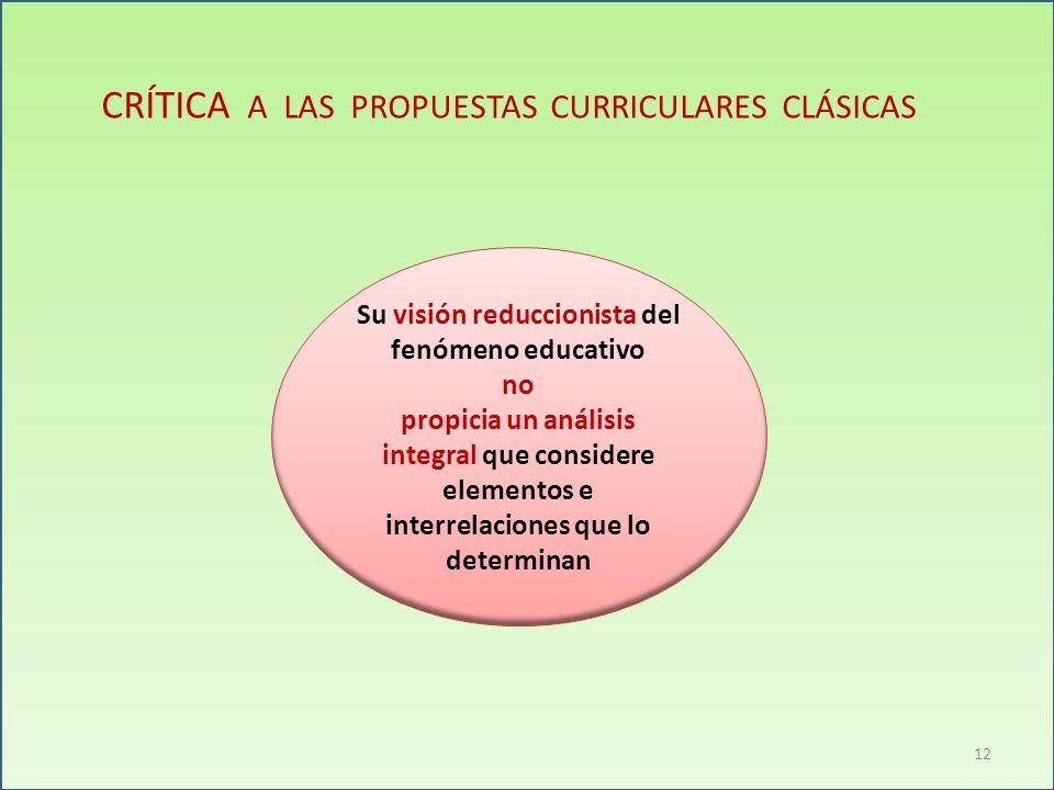 Su visión reduccionista del fenómeno educativo