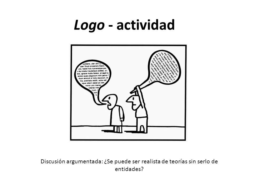 Logo - actividad Discusión argumentada: ¿Se puede ser realista de teorías sin serlo de entidades