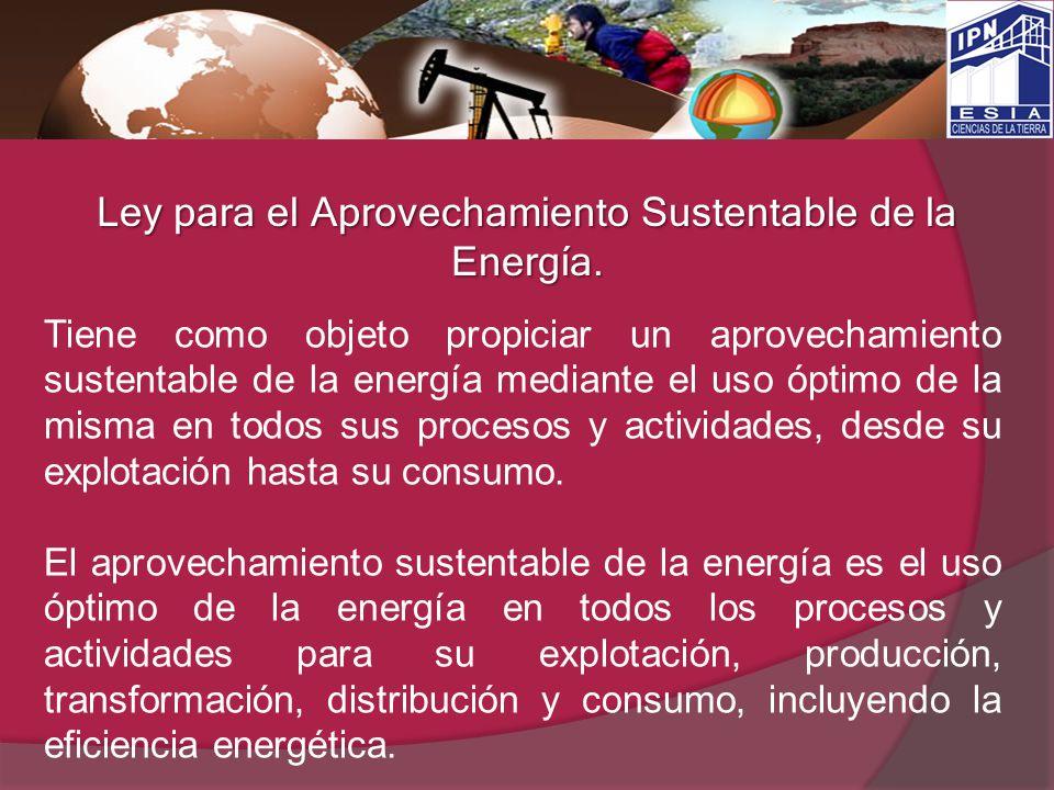 Ley para el Aprovechamiento Sustentable de la Energía.