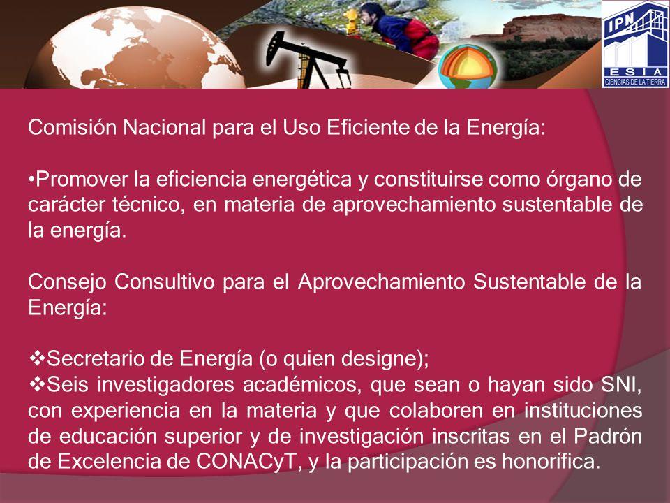Comisión Nacional para el Uso Eficiente de la Energía:
