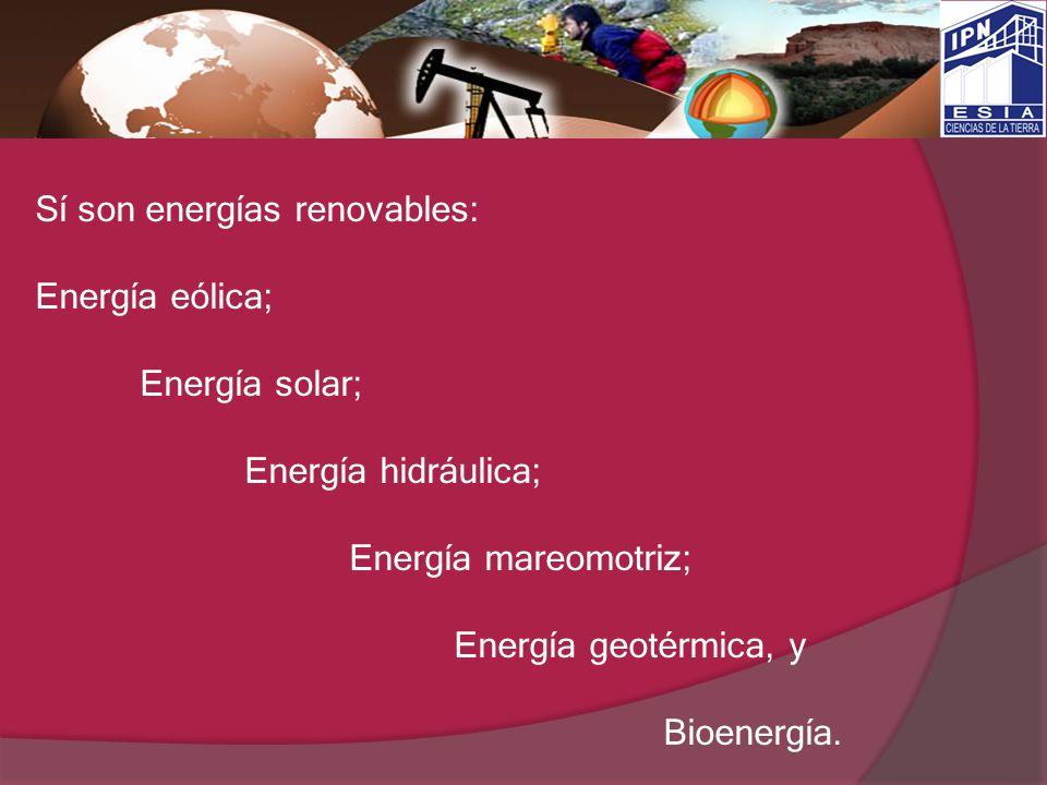 Sí son energías renovables:
