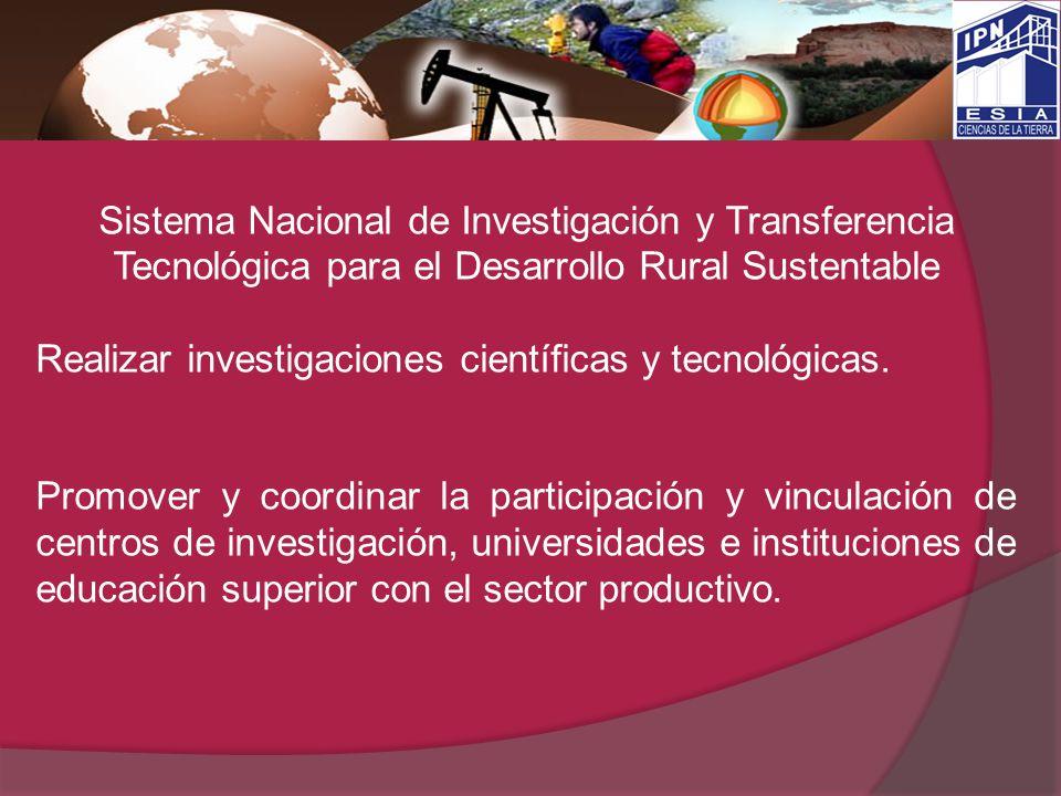 Sistema Nacional de Investigación y Transferencia Tecnológica para el Desarrollo Rural Sustentable
