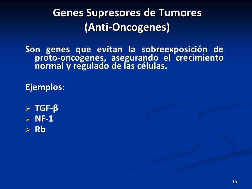 Genes Supresores de Tumores (Anti-Oncogenes)