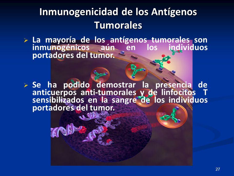 Inmunogenicidad de los Antígenos Tumorales