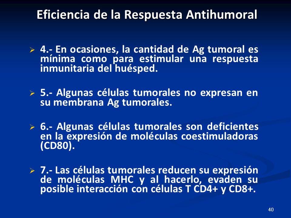 Eficiencia de la Respuesta Antihumoral