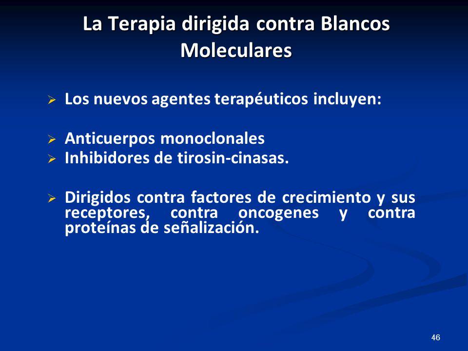 La Terapia dirigida contra Blancos Moleculares
