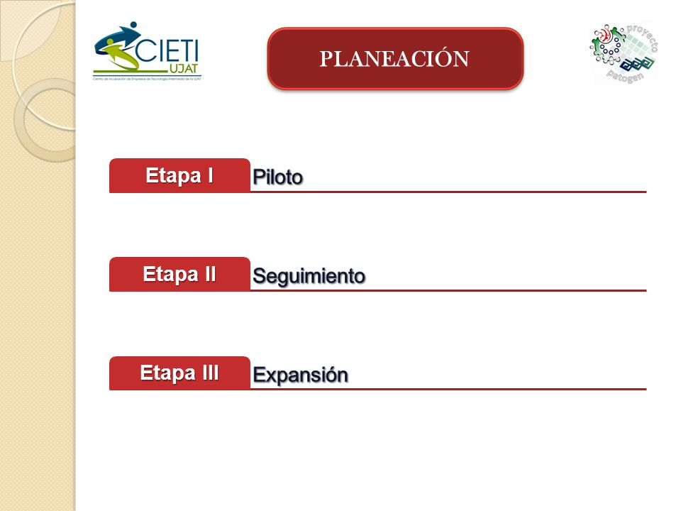 PLANEACIÓN Piloto Etapa I Seguimiento Etapa II Expansión Etapa III