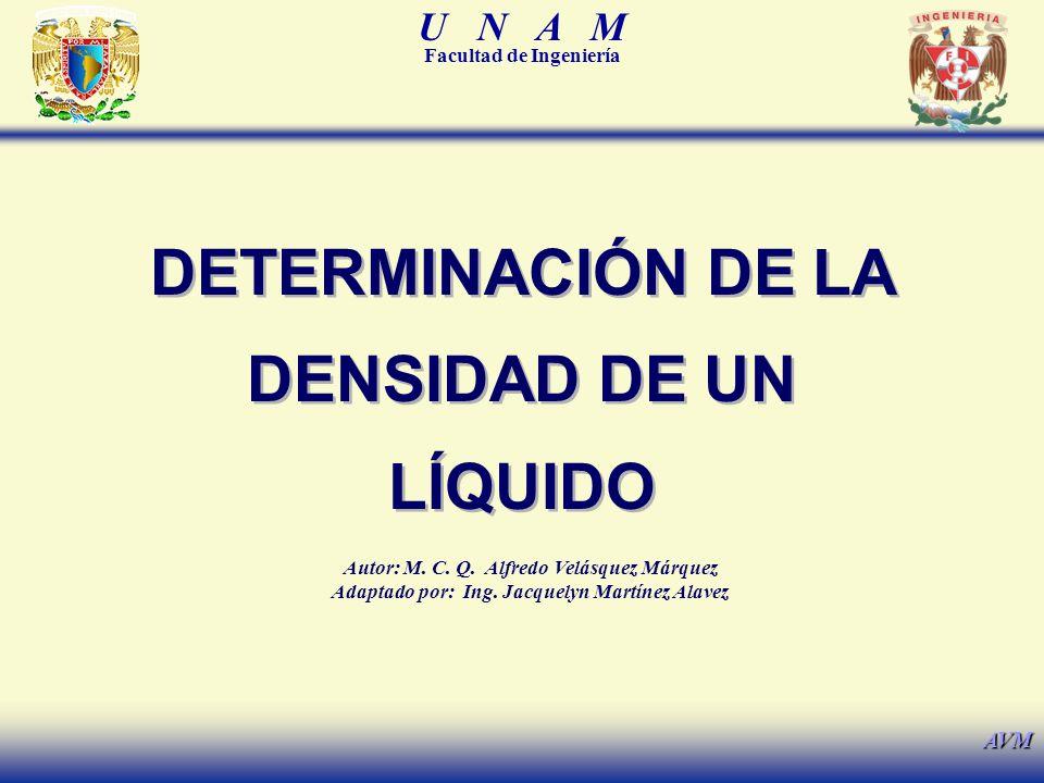 DETERMINACIÓN DE LA DENSIDAD DE UN LÍQUIDO