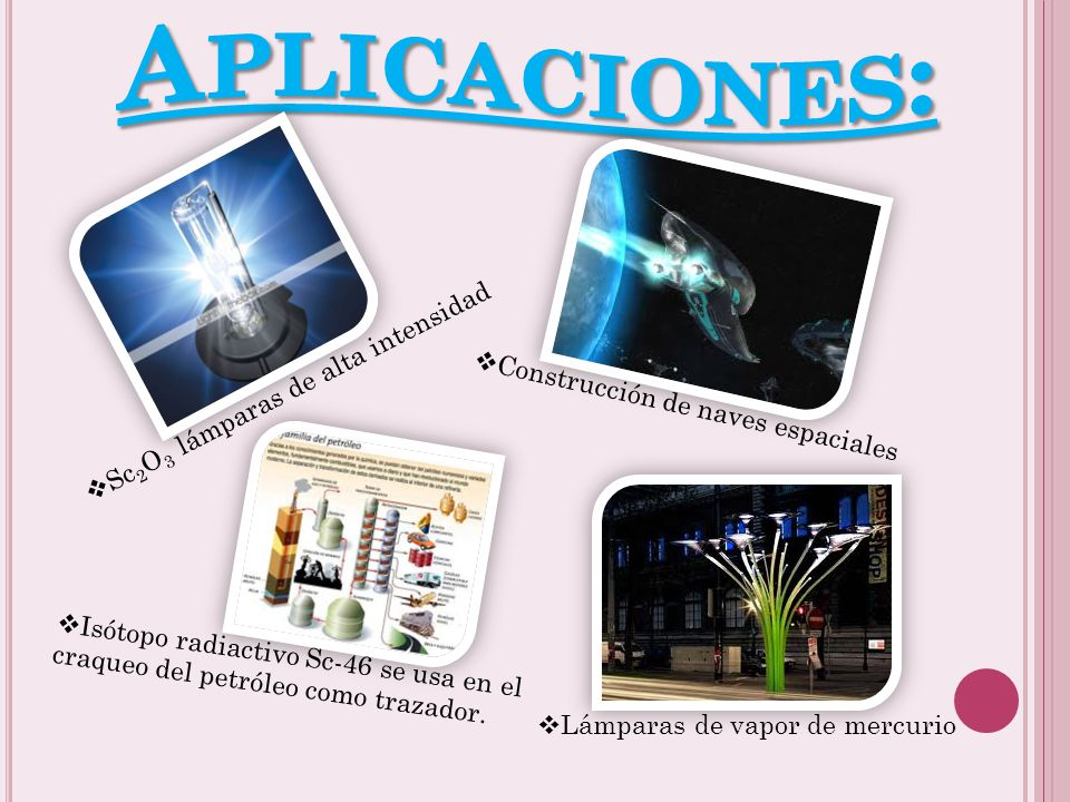 Aplicaciones: Sc2O3 lámparas de alta intensidad
