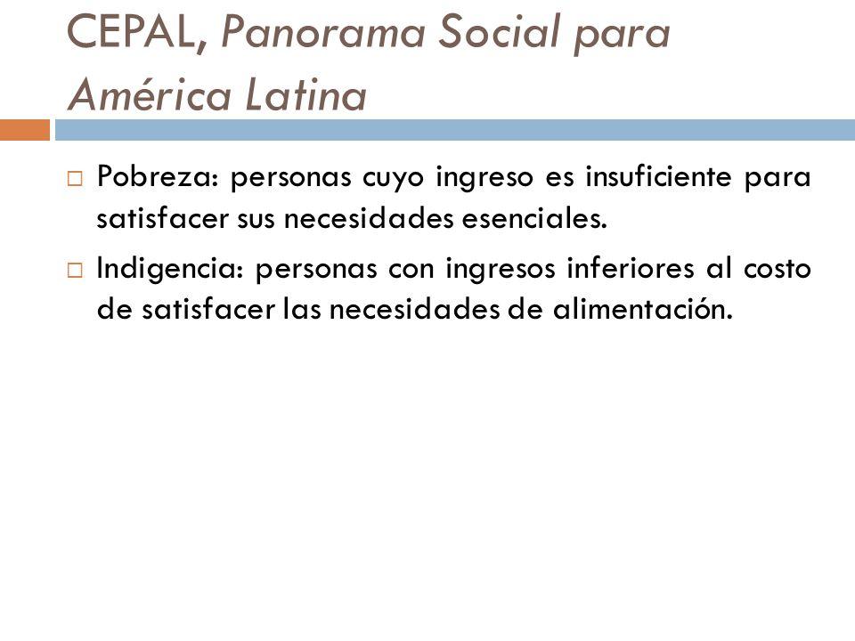 CEPAL, Panorama Social para América Latina