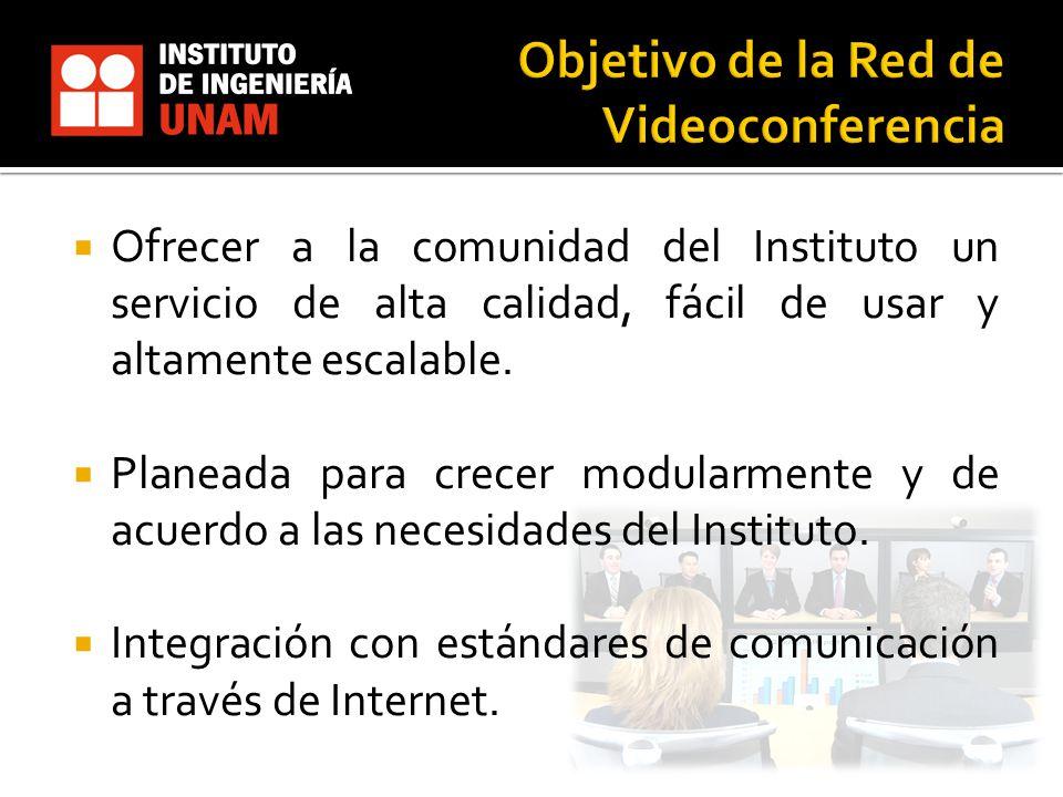 Objetivo de la Red de Videoconferencia