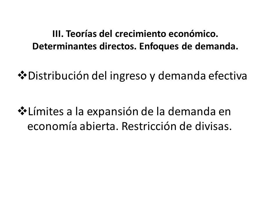 Distribución del ingreso y demanda efectiva