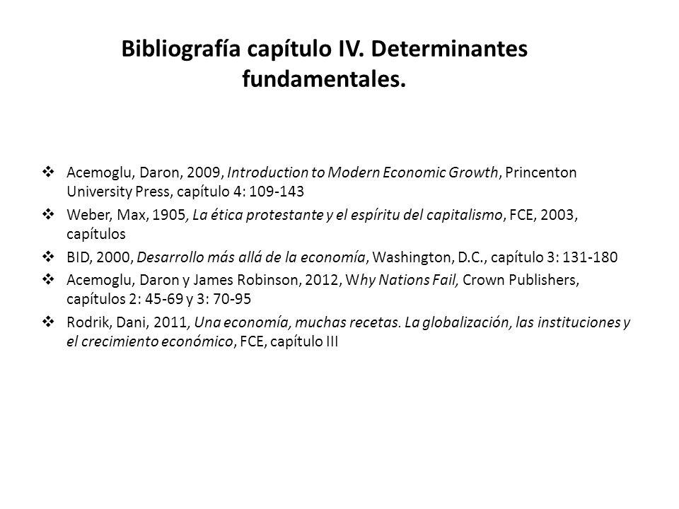 Bibliografía capítulo IV. Determinantes fundamentales.
