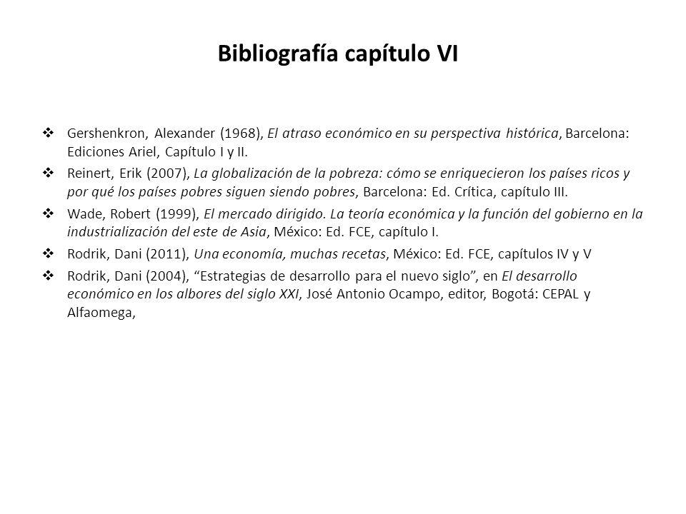 Bibliografía capítulo VI
