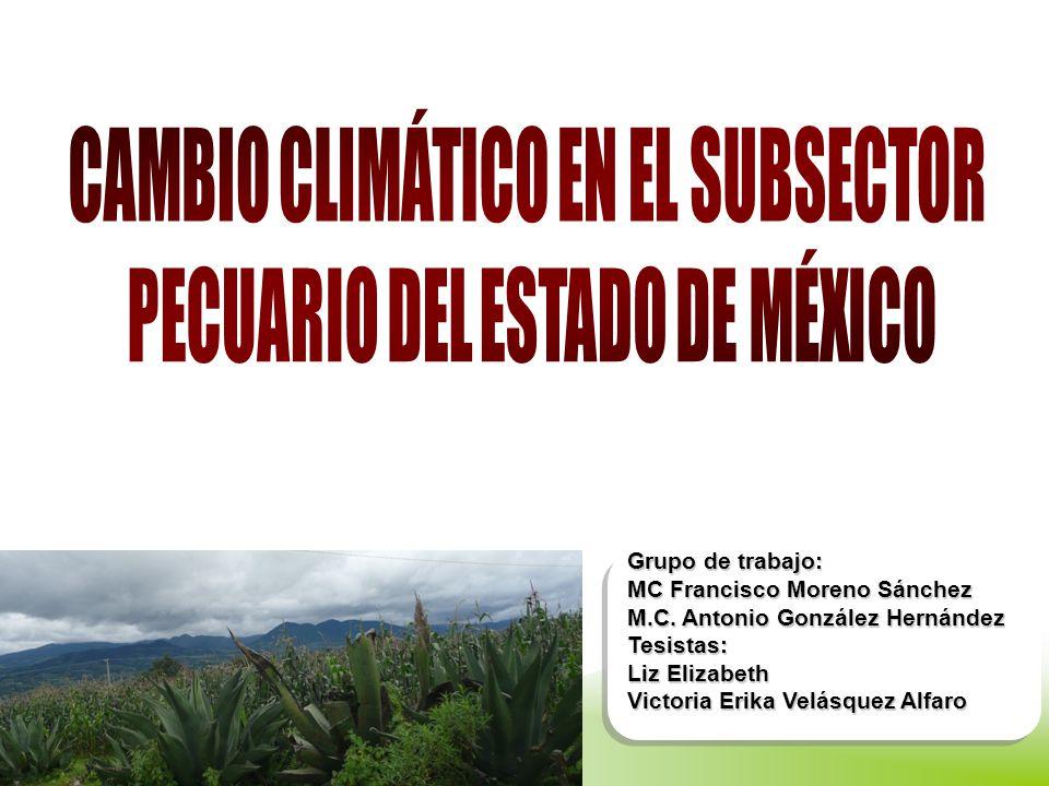 CAMBIO CLIMÁTICO EN EL SUBSECTOR PECUARIO DEL ESTADO DE MÉXICO