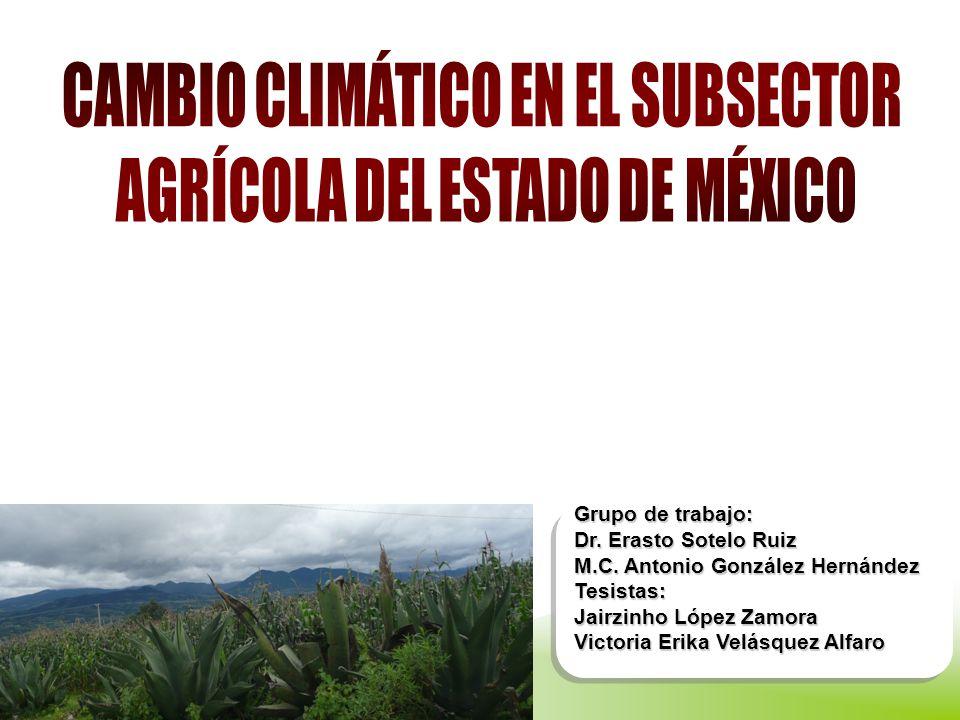 CAMBIO CLIMÁTICO EN EL SUBSECTOR AGRÍCOLA DEL ESTADO DE MÉXICO