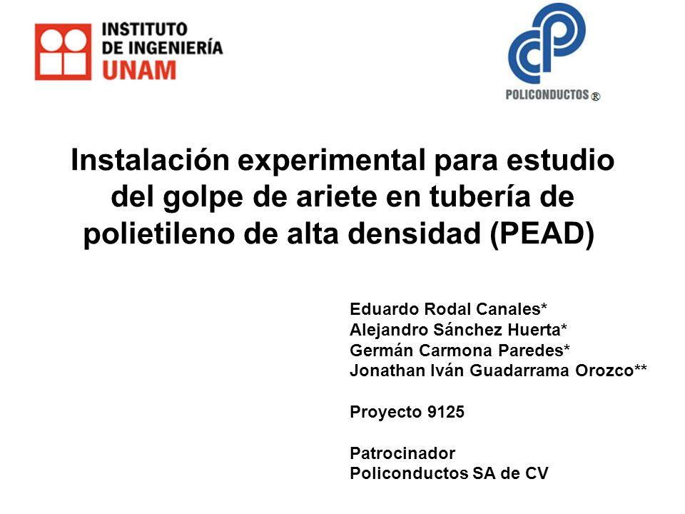 Instalación experimental para estudio