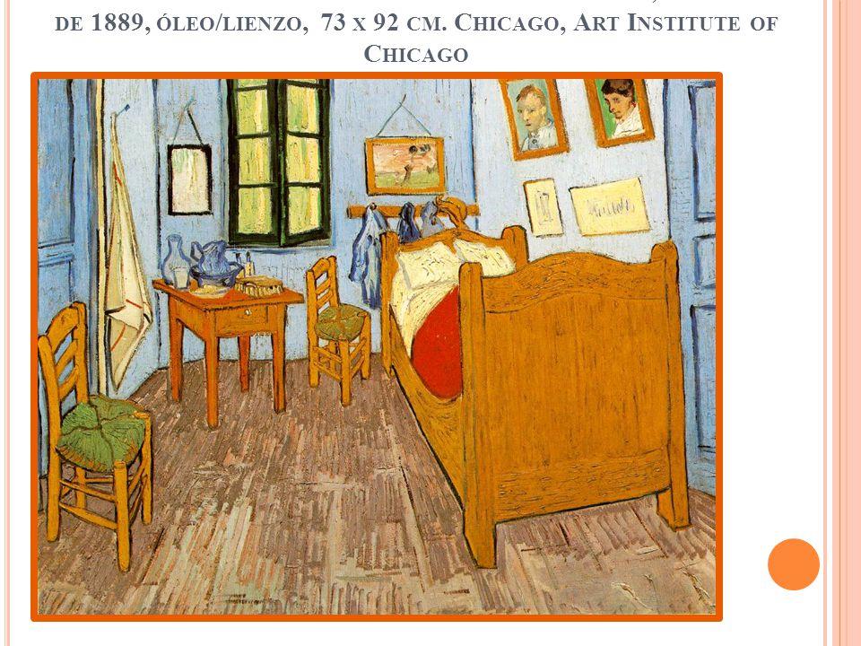La habitación de Van Gogh en Arles Saint Rémy, septiembre de 1889, óleo/lienzo, 73 x 92 cm.