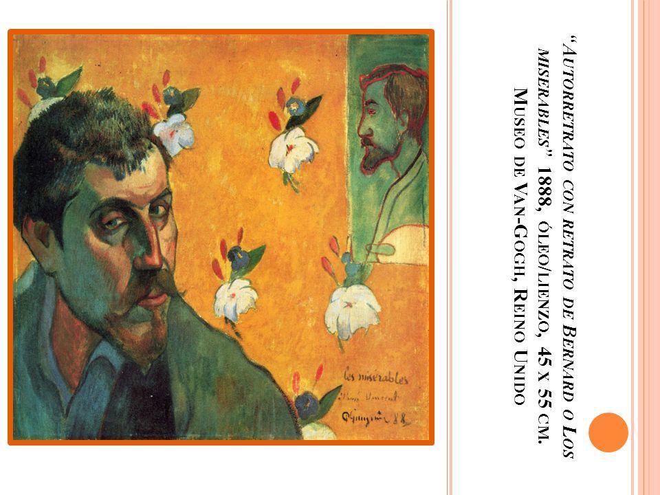 Autorretrato con retrato de Bernard o Los miserables 1888, óleo/lienzo, 45 x 55 cm.