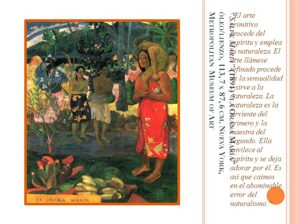 El arte primitivo procede del espíritu y emplea la naturaleza