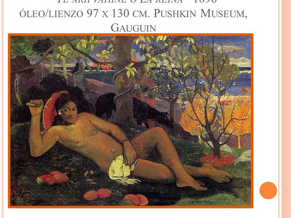 Te arii vahine o La reina 1896 óleo/lienzo 97 x 130 cm