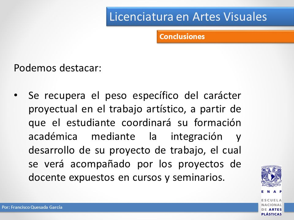 Licenciatura en Artes Visuales