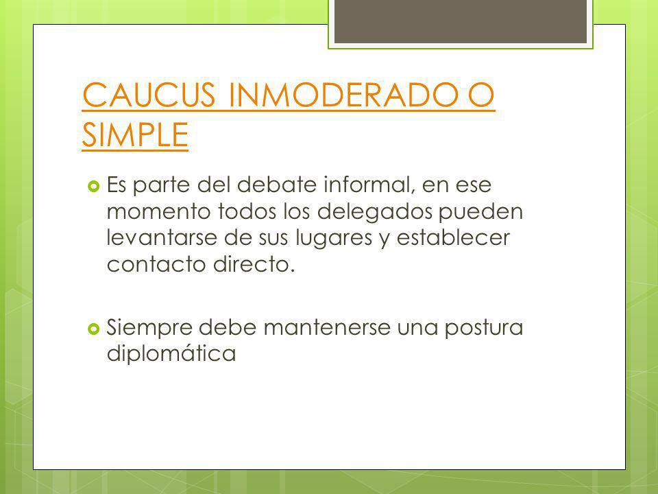 CAUCUS INMODERADO O SIMPLE