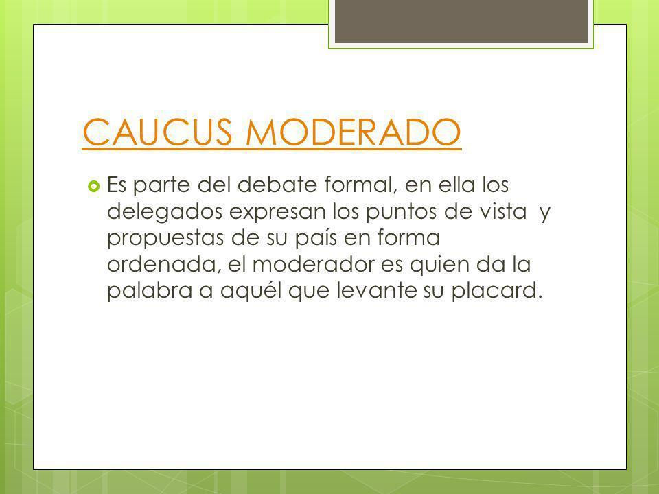 CAUCUS MODERADO