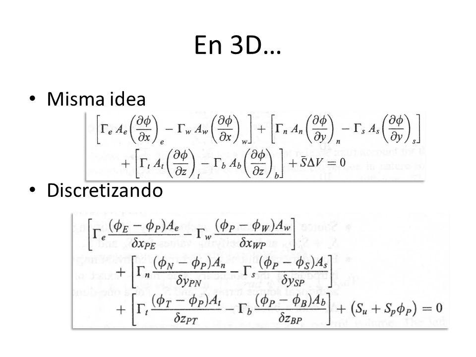 En 3D… Misma idea Discretizando
