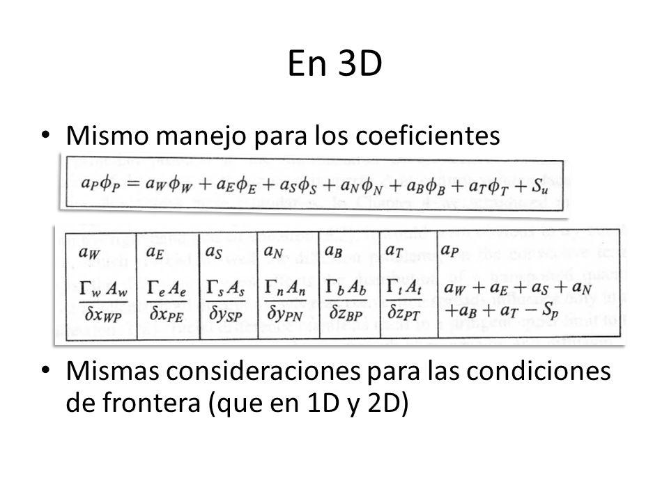 En 3D Mismo manejo para los coeficientes