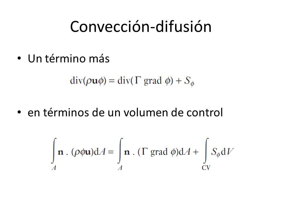 Convección-difusión Un término más