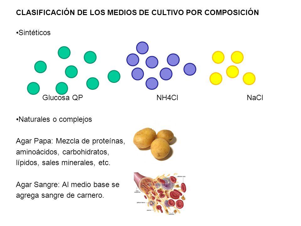 CLASIFICACIÓN DE LOS MEDIOS DE CULTIVO POR COMPOSICIÓN
