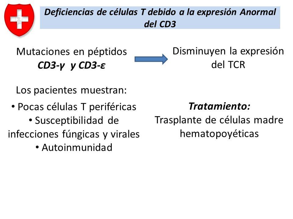 Deficiencias de células T debido a la expresión Anormal del CD3