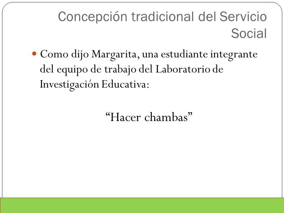 Concepción tradicional del Servicio Social