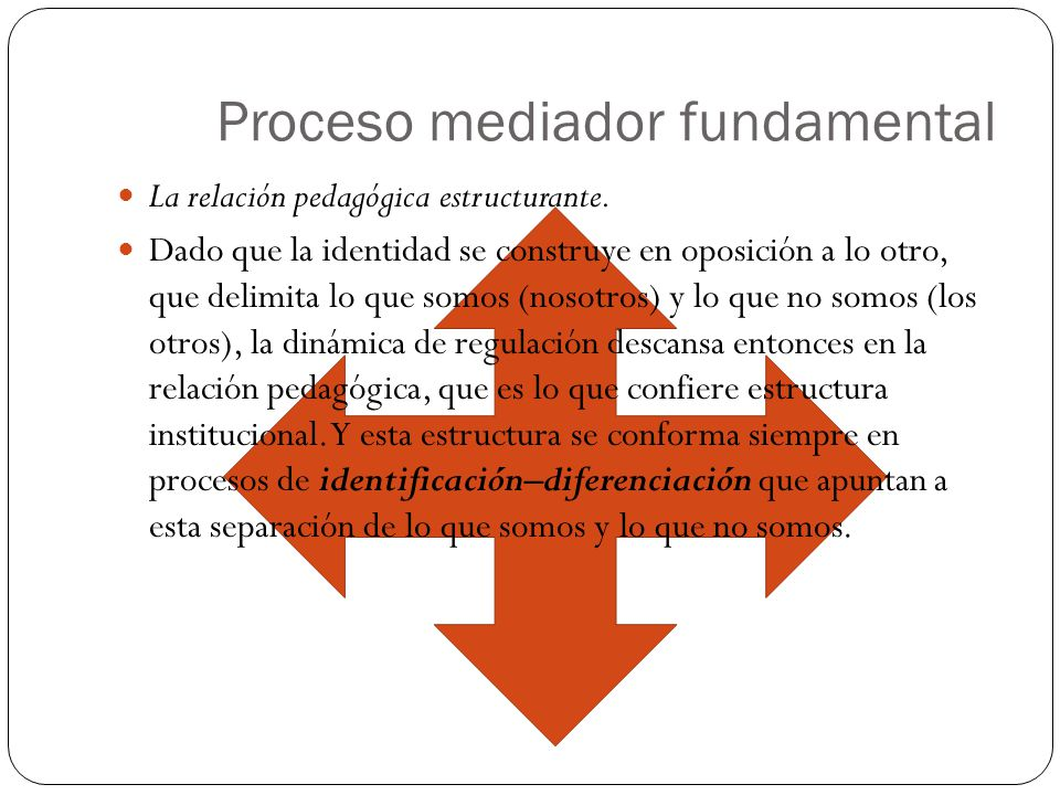 Proceso mediador fundamental