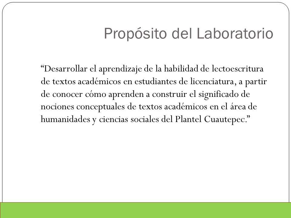Propósito del Laboratorio