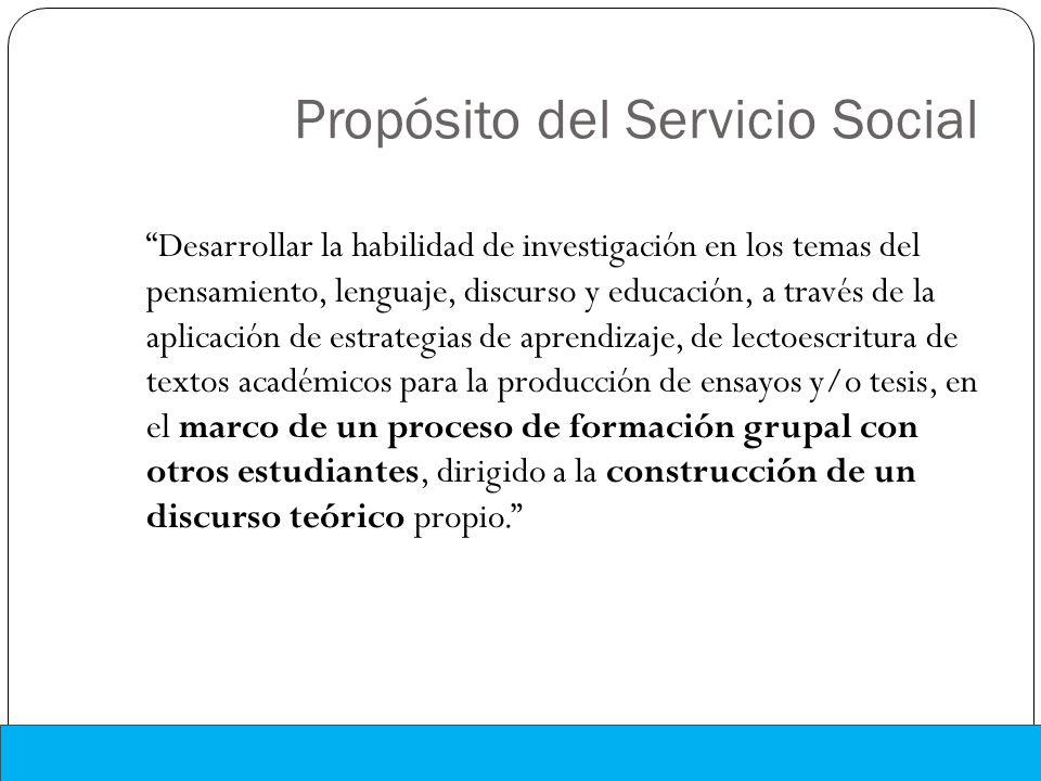 Propósito del Servicio Social