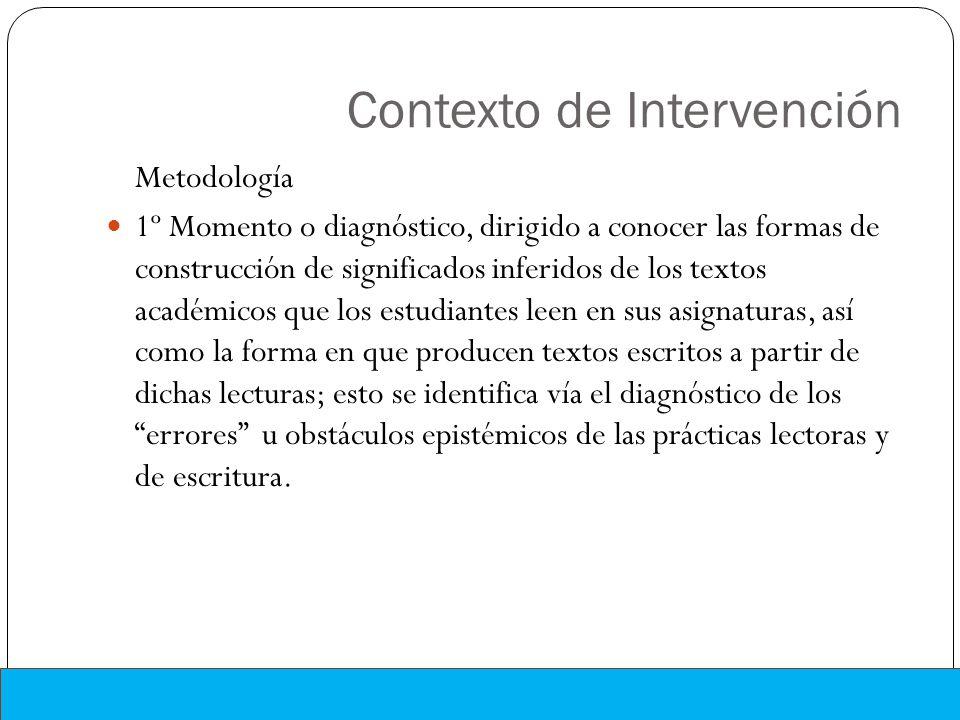 Contexto de Intervención