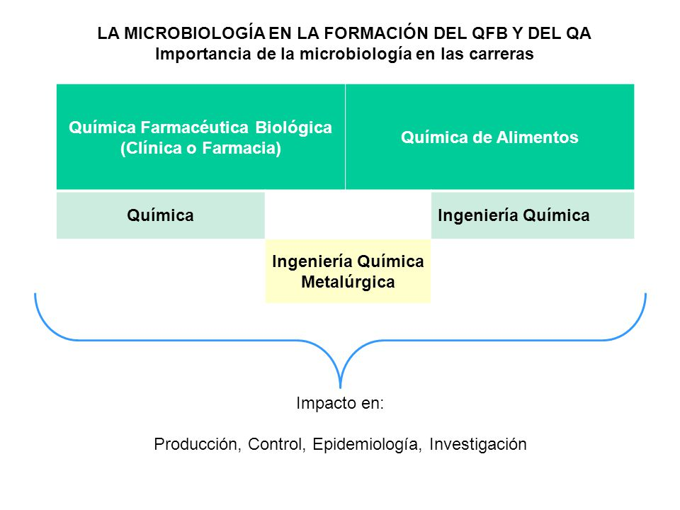 LA MICROBIOLOGÍA EN LA FORMACIÓN DEL QFB Y DEL QA