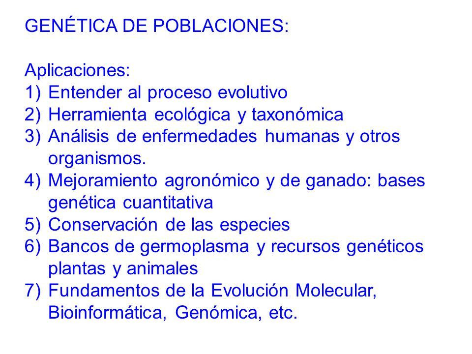 GENÉTICA DE POBLACIONES: