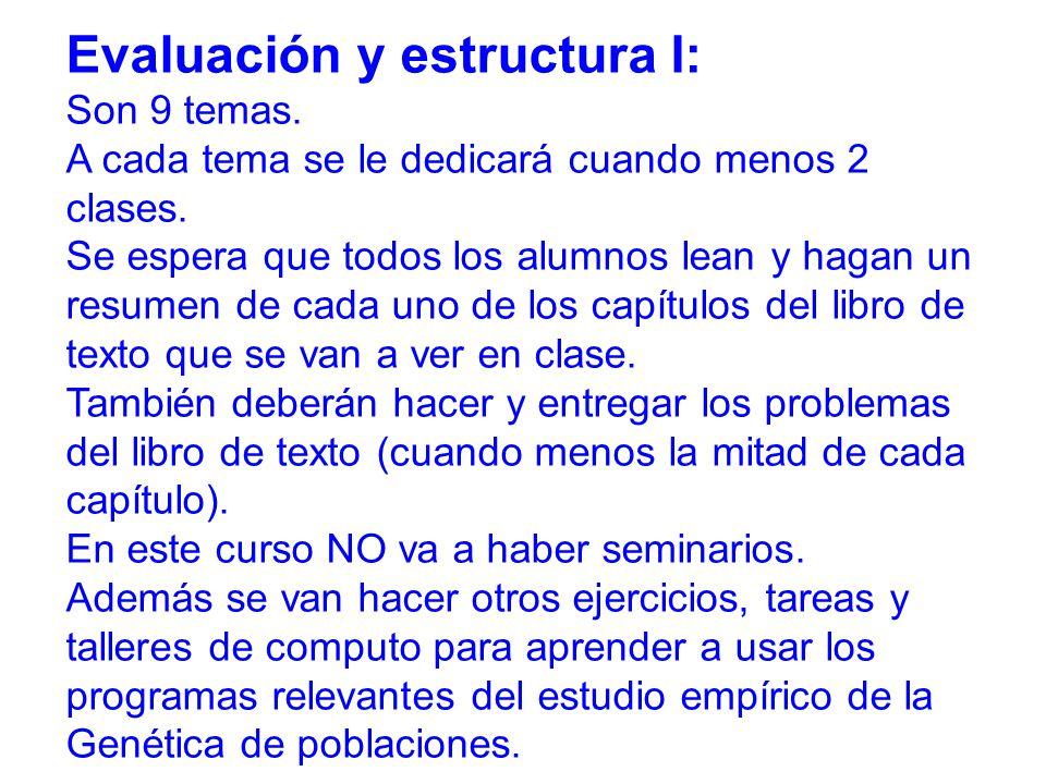 Evaluación y estructura I: