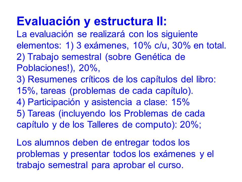 Evaluación y estructura II: