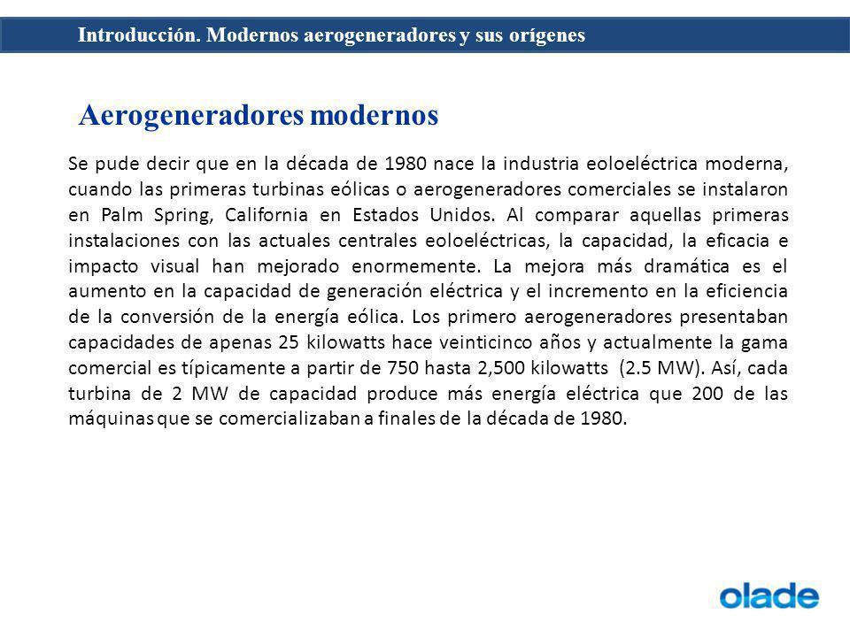 Aerogeneradores modernos
