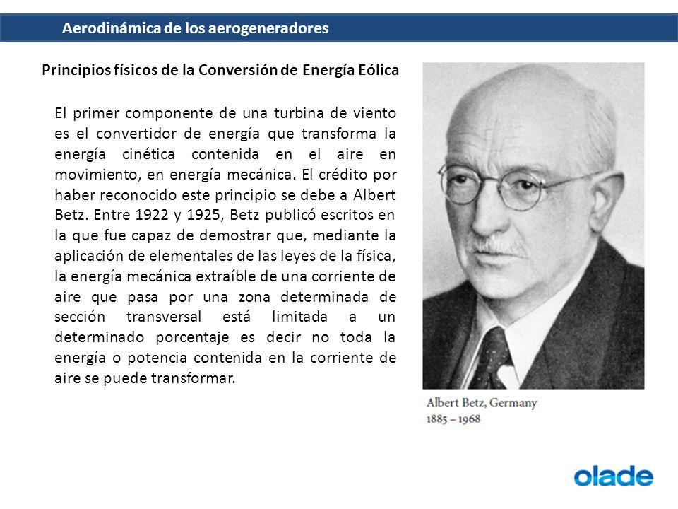 Principios físicos de la Conversión de Energía Eólica