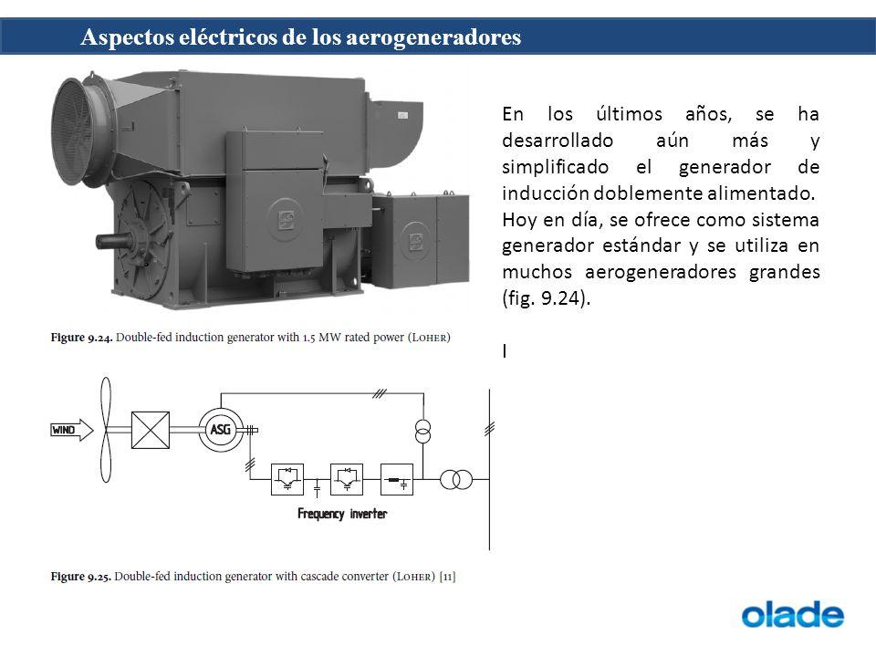 En los últimos años, se ha desarrollado aún más y simplificado el generador de inducción doblemente alimentado.