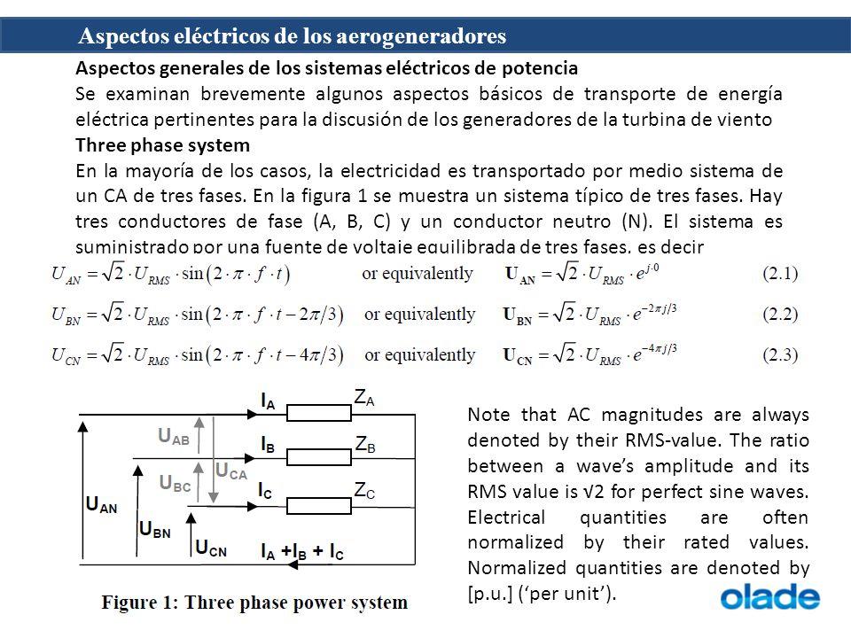 Aspectos generales de los sistemas eléctricos de potencia