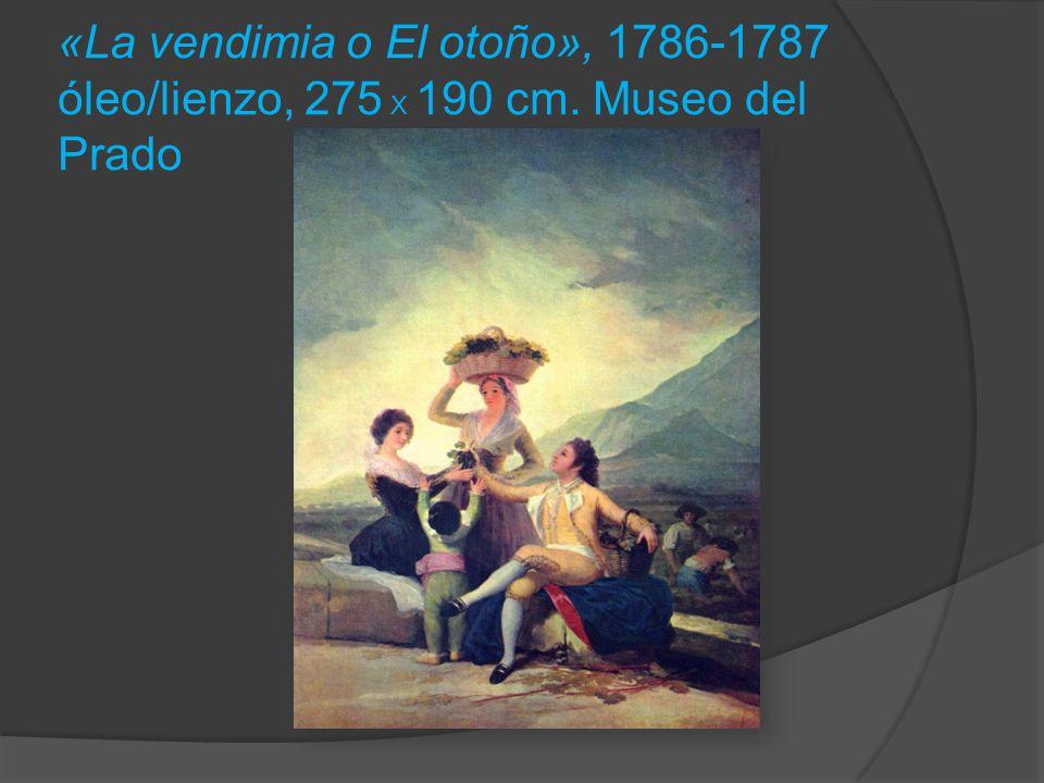 «La vendimia o El otoño», 1786-1787 óleo/lienzo, 275 X 190 cm