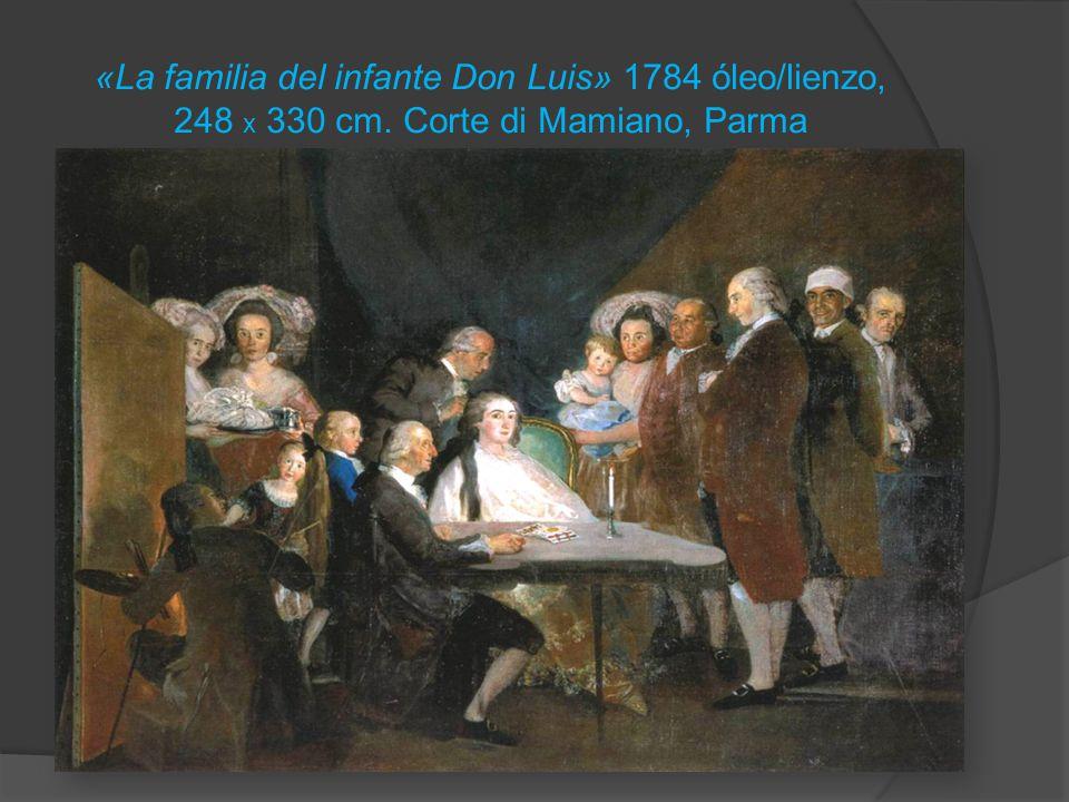 «La familia del infante Don Luis» 1784 óleo/lienzo, 248 x 330 cm