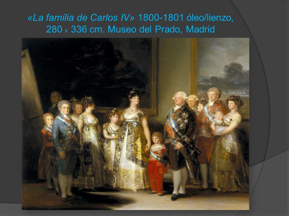 «La familia de Carlos IV» 1800-1801 óleo/lienzo, 280 x 336 cm