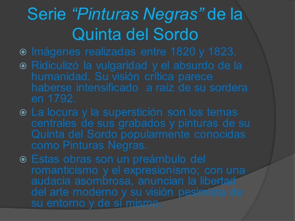 Serie Pinturas Negras de la Quinta del Sordo
